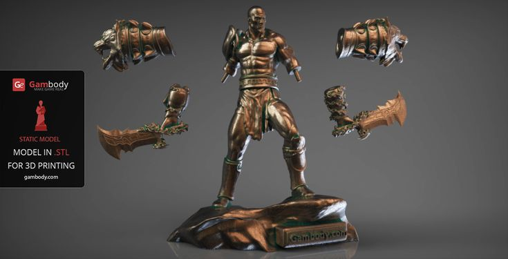 God of War Kratos 3D Model for printing: 16cm scale size. #kratos #3dprinting #awesome