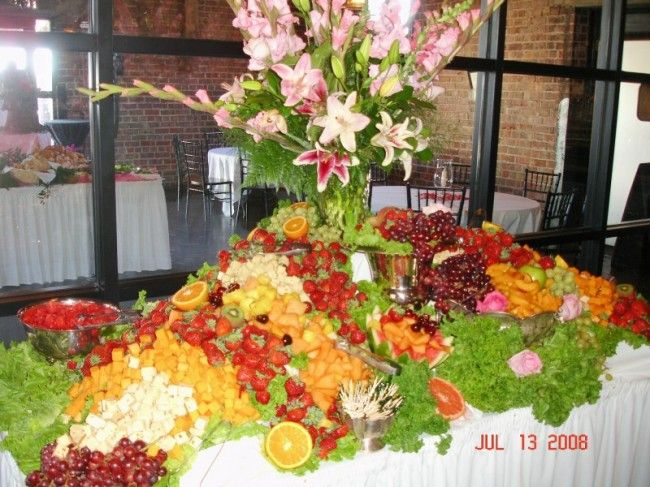 Waterfall Fruit And Veggie Displays: A Beautiful Fruit And Cheese Display.
