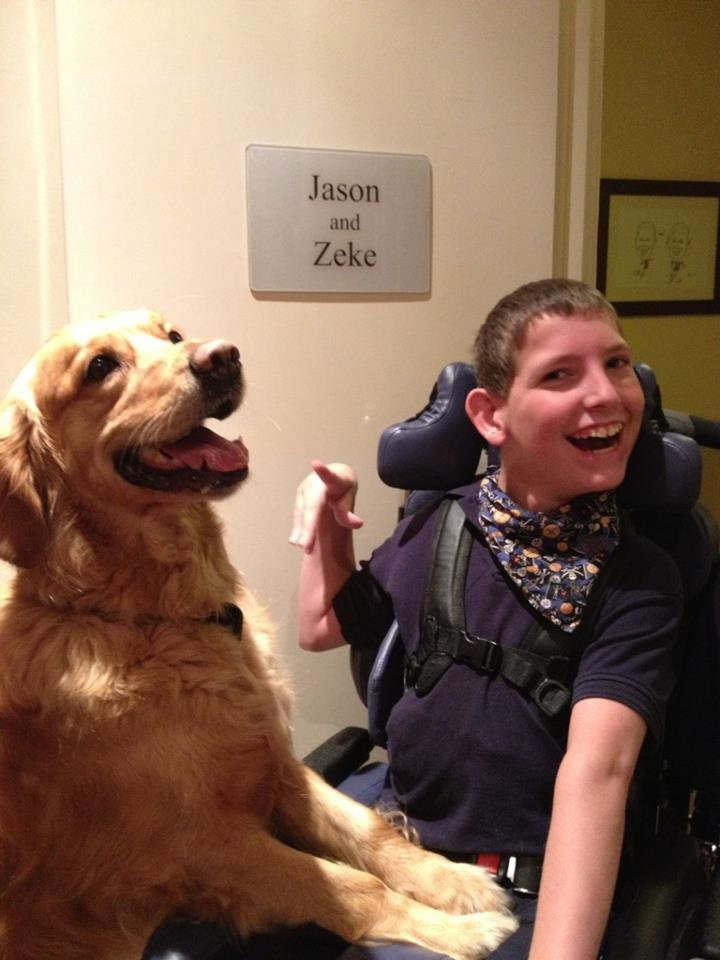 We caught up with Jason and Zeke yesterday, to see how they are doing. We think this photo speaks...dogsforthedisabled.org