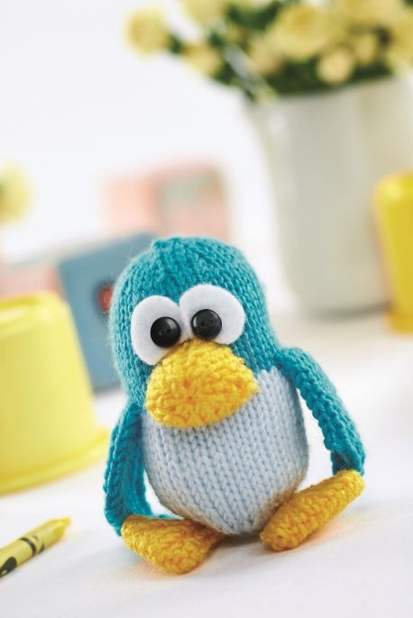 "Kevin the Penguin   Free Knitting Pattern ( You will need to be registered with ""Let's Knit"" to open the files, just click the Blue Box ""Sign Up to Download Pattern"" to fill register form) ( PDF File Zip format)  http://www.letsknit.co.uk/free-knitting-patterns/kevin-the-penguin"