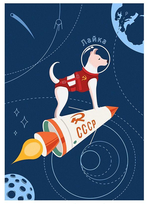 Image result for laika space dog poster