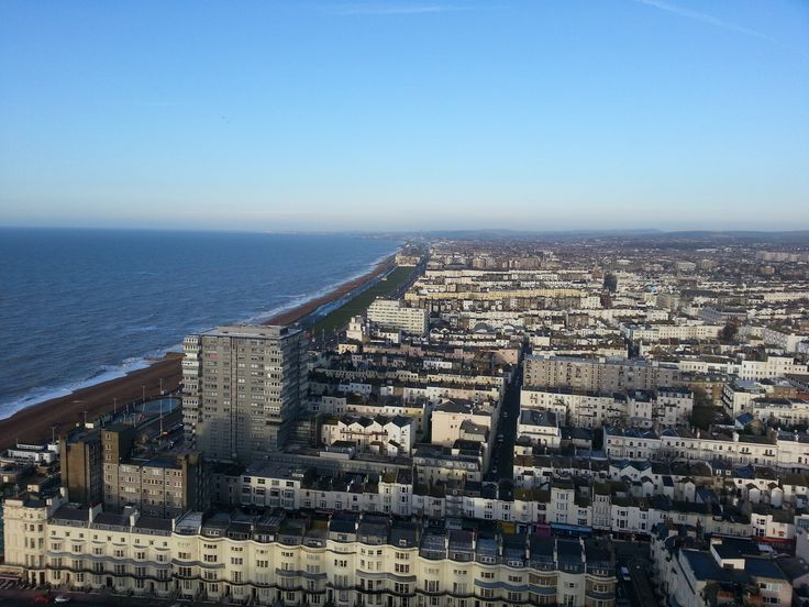 View from the top of the tallest building in Brighton.