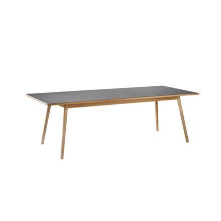 Poul M. Volther bord Model C35 95 x 220 - sort, 7500kr. Kan fåes med to tillægsplader.