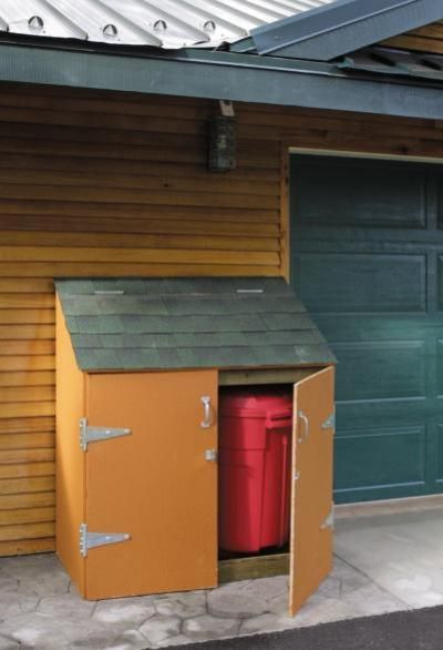 Conceal A Pair Of Trash Or Recycling Containers With An Easy To Build  Lean To Shed That Looks Great On The Side Of The Garage