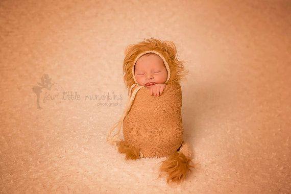 Lion Set Newborn Photography Prop  FREE US by BoutiqueforBella, $42.00