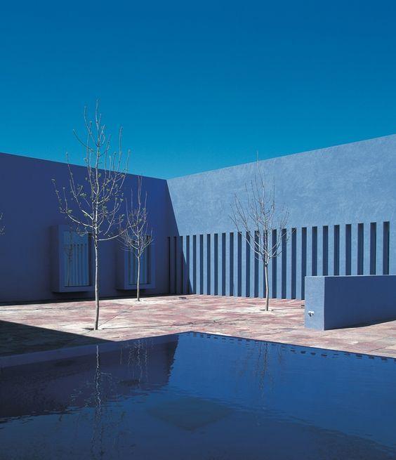 Oh Good Goods Mag  #building #architect #architecture #space #blue #minimal #bauhaus