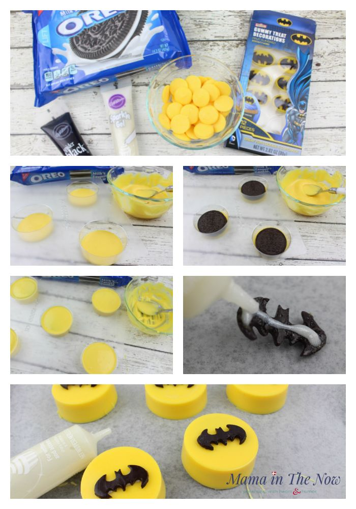 how to make LEGO® Batman oreos. Decorations and snacks for a birthday party - easy and simple.