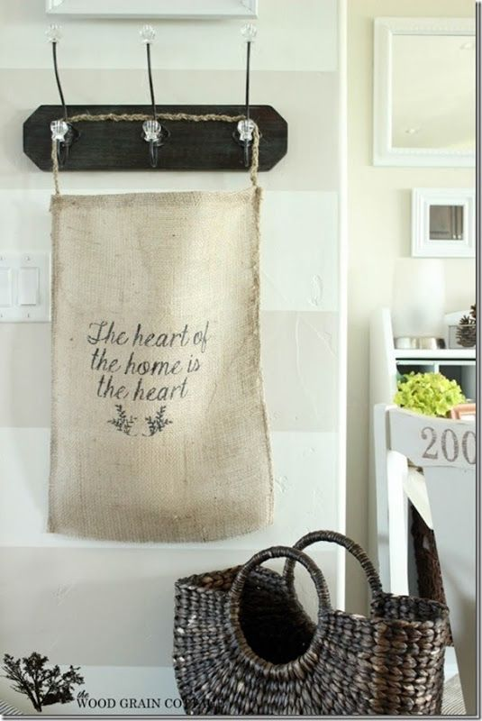 8 Burlap DIY and Decor Projects - Setting for Four
