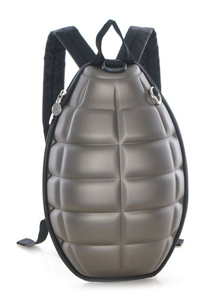 Tide Cool Kids Grenade Backpack Color: Rose Red, Red, Black, Blue,Camouflage, Brown, Green Material: PU Leather Size : 24cm*32cm*7cm ...