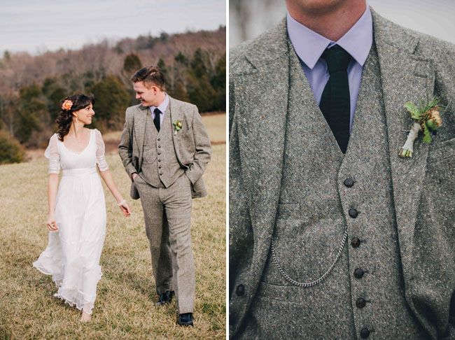 Wool suit for a winter wedding