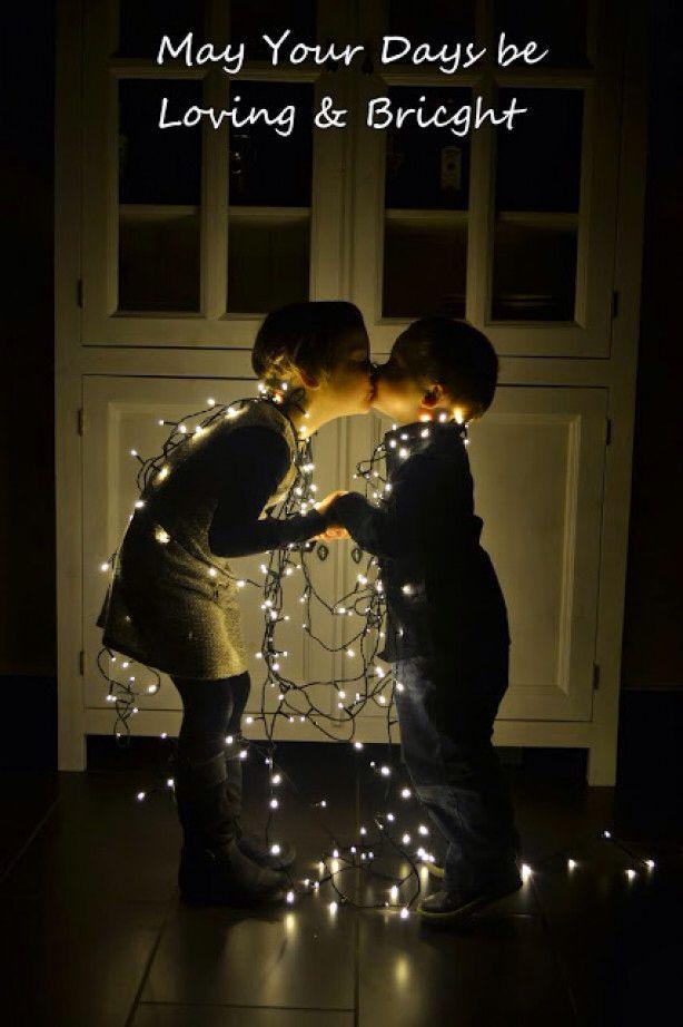 Lichtjes leuk voor een kerstkaart