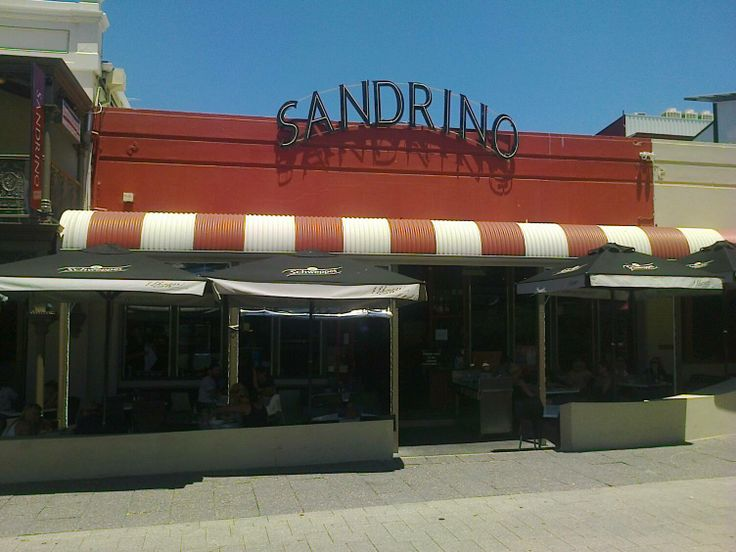 This is Sandrino Cafe Restaurant in Fremantle.