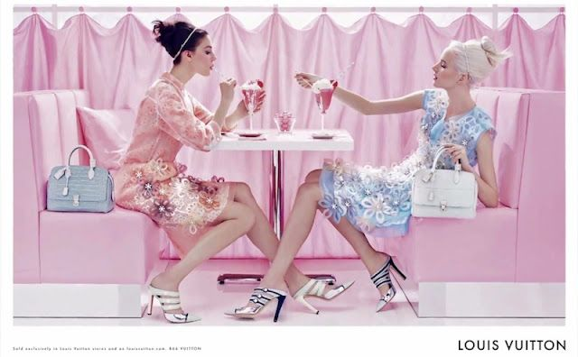 What a darling ad campaign from Louis Vuitton...Spring 2012 Soda Fountain Ad Campaign