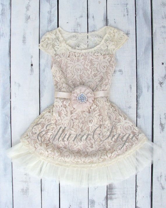 Hey, I found this really awesome Etsy listing at https://www.etsy.com/listing/232531991/champagne-flower-girl-dress-lace-baby