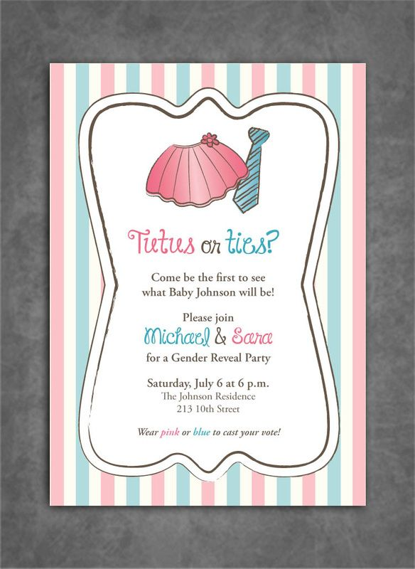 unique gender reveal party ideas that wont empty your wallet gender reveal ideas pinterest gender reveal gender reveal invitations and gender