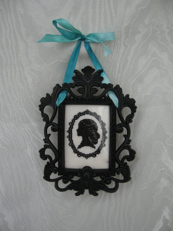 Baroque Style Frame with Cross Stitch Cameo