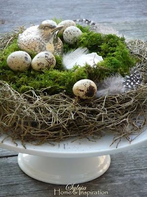 Easter Nest in table centerpiece