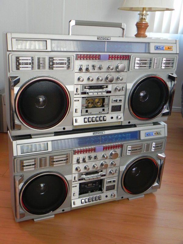 Rare TWO Vintage HUGE Clairtone 7980 CONION C100F Boombox Ghetto Blaster WORKING | Boombox ...