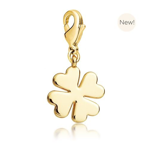 Clover Charm Gold Plated