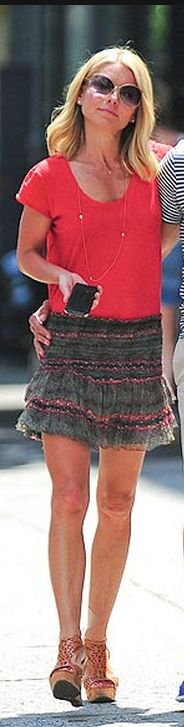 Kelly Ripa: Skirt Isabel Marant  Jewelry – Shop Vale