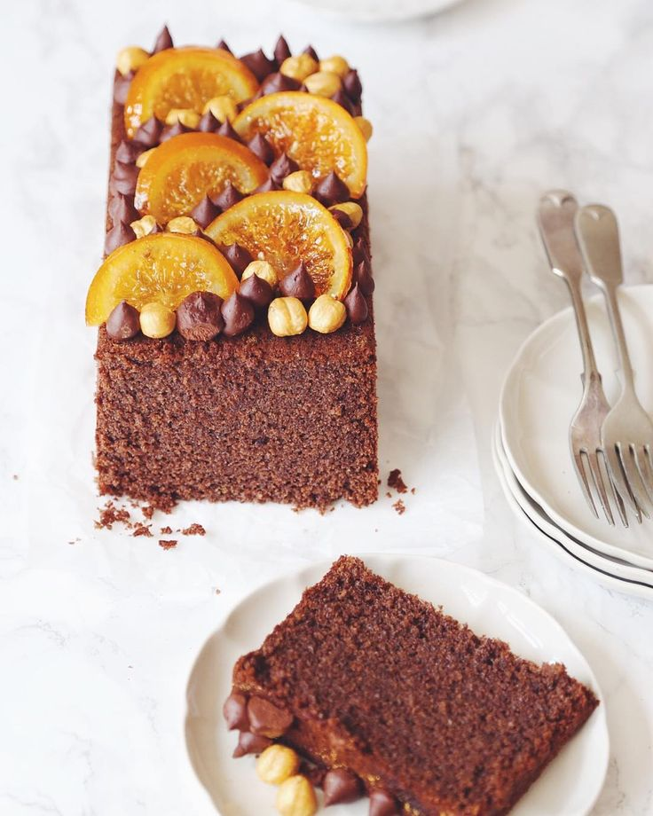 You guys ask me for #glutenfree recipes all the time so my feature in this months @bbcgoodfood is all about #freefrom baking including this #dairyfree chocolate and hazelnut cake with golden hazelnuts and candied orange slices