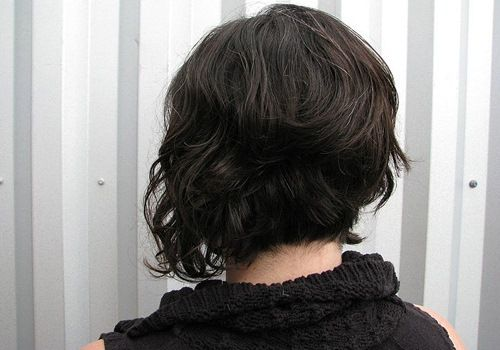 1000+ Ideas About Curly Asymmetrical Bob On Pinterest