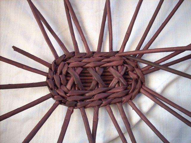 Tutorial - design for a lid - Moje pletení z papíru - Fotoalbum - NÁVOD - NA PLETENÁ DNA - NÁVOD - na pletené oválné dno