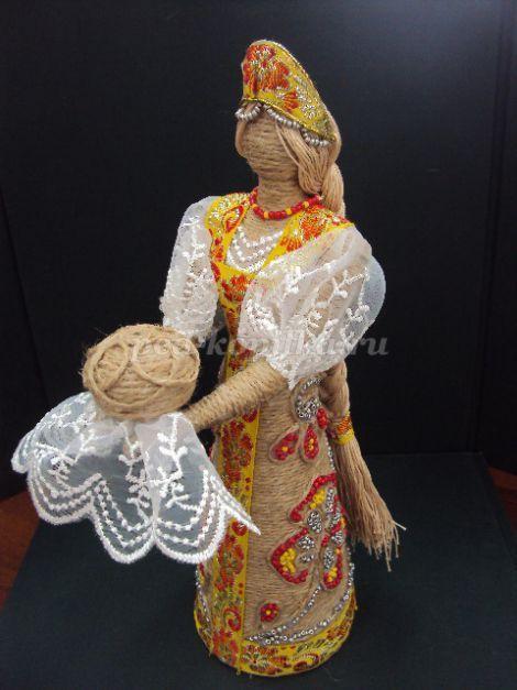Кукла из шпагата своими руками. Мастер-класс с пошаговым фото
