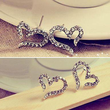 Lady amor pendientes pendientes pendientes de diamantes de joyería femenina de Corea agujas E611 – CLP $ 634