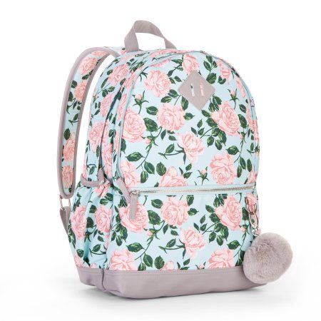 No Boundaries Mint Floral Dome Backpack, Multicolor   Products   Backpacks,  Floral backpack, Floral 37e8f0756c