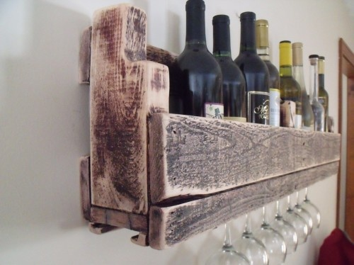 Reclaimed wood wine rack with stem holder~ http://www.artfire.com/ext/shop/product_view/thereclaimedlife