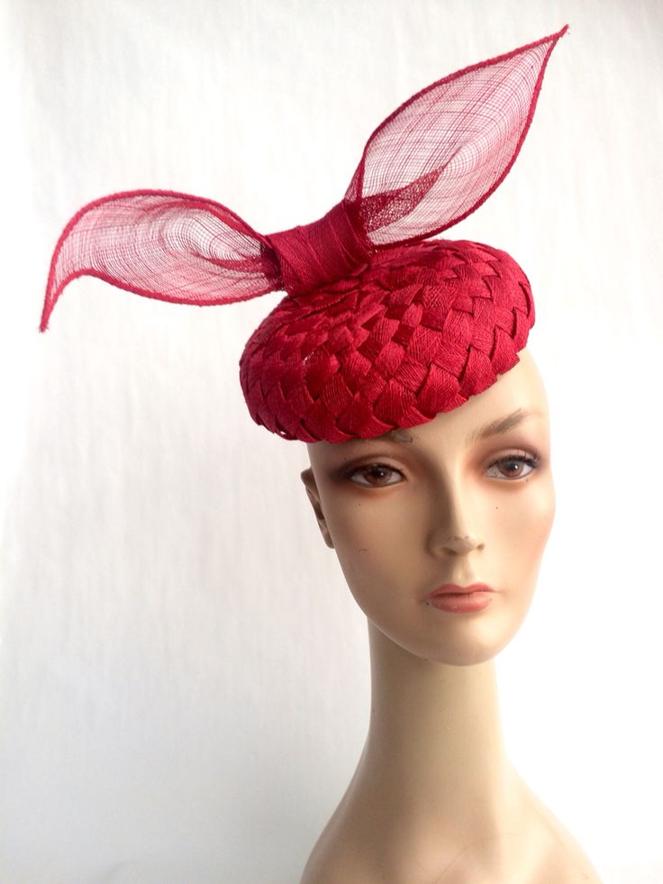 #red #springcarnival #hats #melbournecup #headpieces