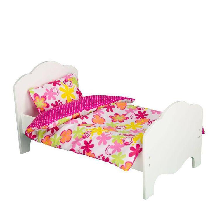 "Olivia's Little World - Little Princess 18"" Doll Single Bed & Bedding Set - Summer Flowers"