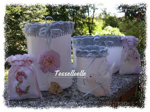 Di tutto un po'... bijoux, uncinetto, ricamo, maglia... ღ by tesselleelle ღ : Riciclo creativo e altri piccoli lavori!