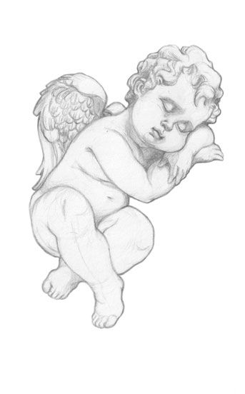 # ange tatouage # cherub tattoo