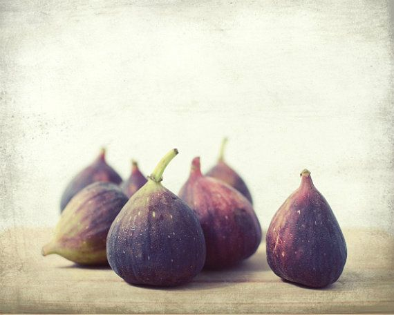 Food Photography - fresh figs food photography rustic kitchen decor fruit photo plum mauve autumn purple wall art   Second Harvest via Etsy