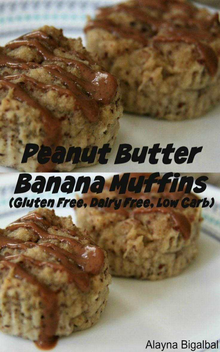 Gluten free, Diary free, Low Carb Peanut Butter Banana Muffins ...