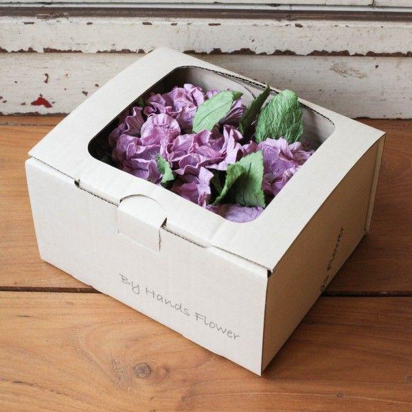 Mulberry Paper Flower Handmade Flower Light Garland, Sweet Purple 350 THB/Box.