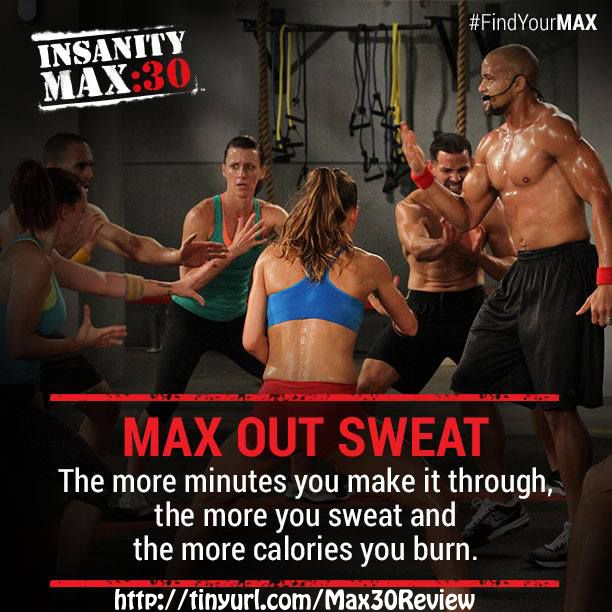 Sweat like a PIG to look like a FOX! Insanity Max 30 will get you burning more calories than any other 30 minute workout you have every tried. Start losing weight with Max 30! http://www.onesteptoweightloss.com/insanity-max-30-review #Insanity2Max30