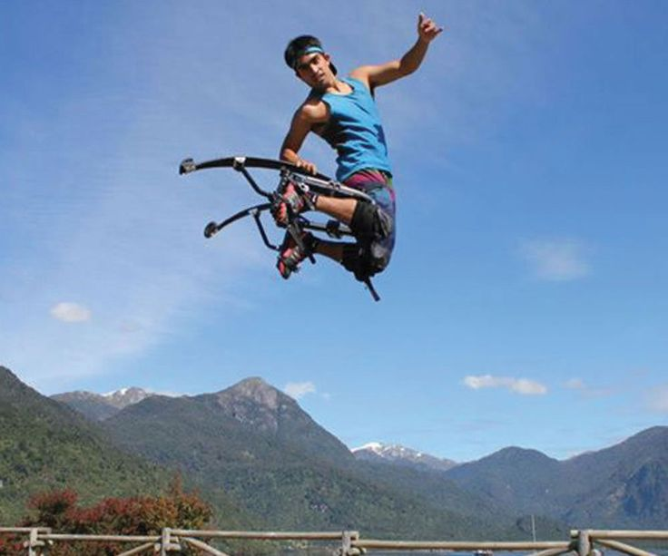 Leap higher than you ever thought possible by strapping on these extreme jumping stilts. These acrobatic stilts are specially designed to allow for a wide range of athletic maneuvers while soaring up to sixteen feet in the air!
