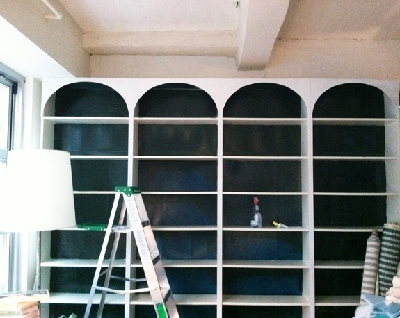 Paint the back of the bookcases:)