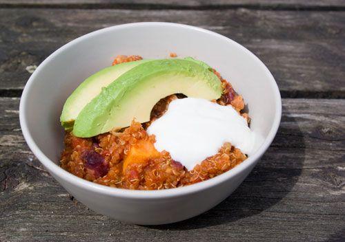quinoa zoete aardappel chili
