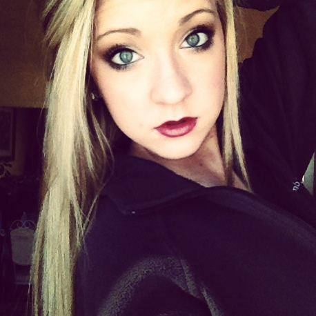 Burgundy lips. it looks a little gothy though