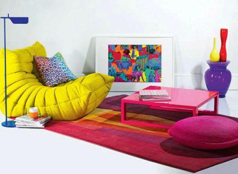diseño de interiores salas coloridas - Buscar con Google