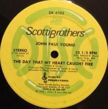 THE DAY THAT MY HEART CAUGHT FIRE (5:00) / LOST IN YOUR LOVE (5:02) ~ JOHN PAUL YOUNG 12 inch single $25.00 AUD