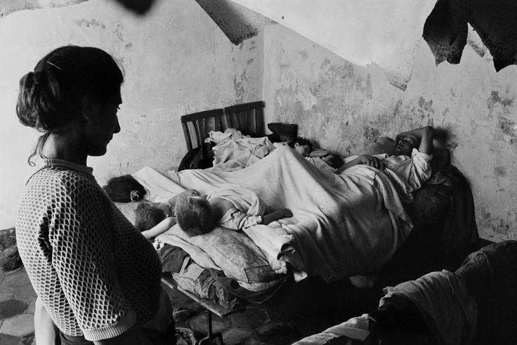 "Sergio Larrain. Sicily. Palermo. Quarter called the ""Pit of Death"", a slum. 1959."