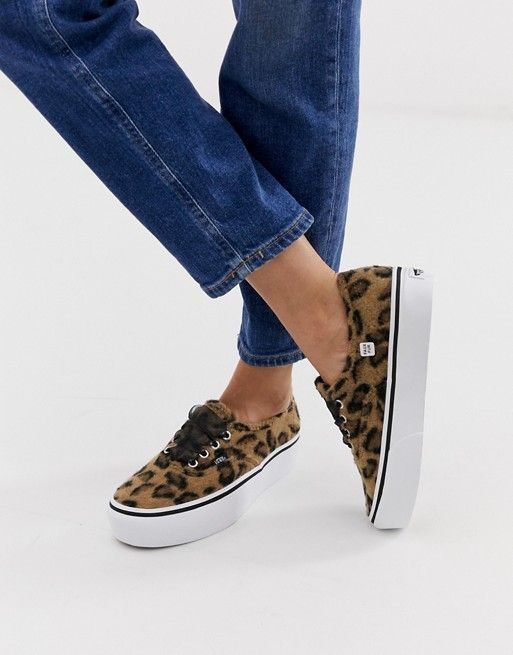 best loved top-rated real discount up to 60% Vans Authentic leopard platform trainers | sho in 2019 ...