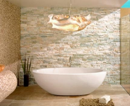 Cladding Stone Wall and Soaker