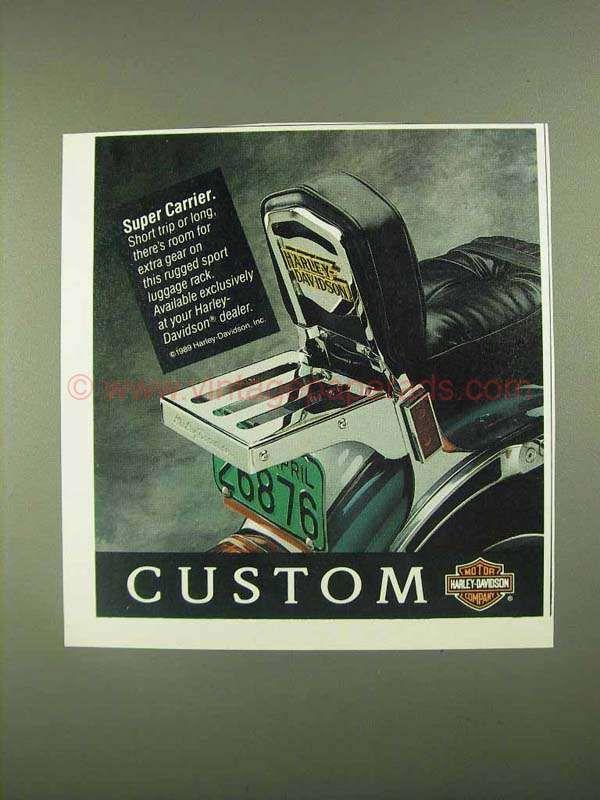 1990 Harley-Davidson Sport Luggage Rack Ad - Super