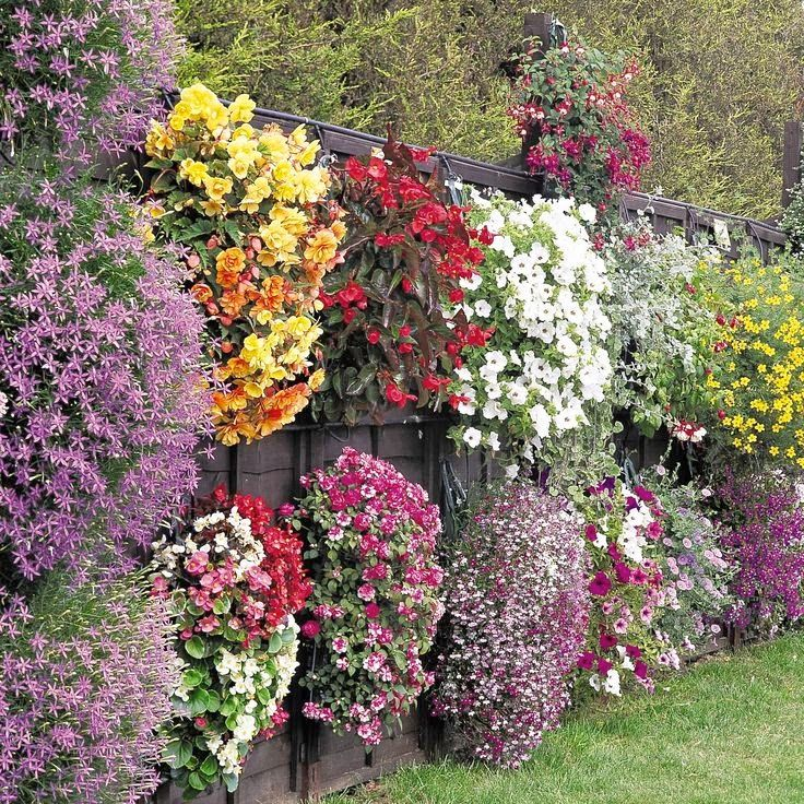 Flower fence... This is so pretty!